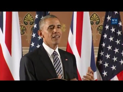 President Obama Participates in a Press Conference with Prime Minister David Cameron