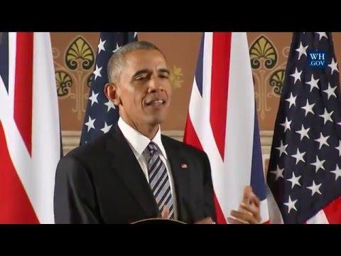 President Obama Participates in a Press Conference with Prime Minister David Cameron