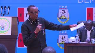 President Kagame speaks at RPF Bureau Politique | Rusororo, 8 July 2018