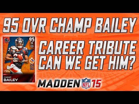 Career Tribute 95 Overall Flashback Champ Bailey! | Pro Pack Opening | Madden 15 Ultimate Team