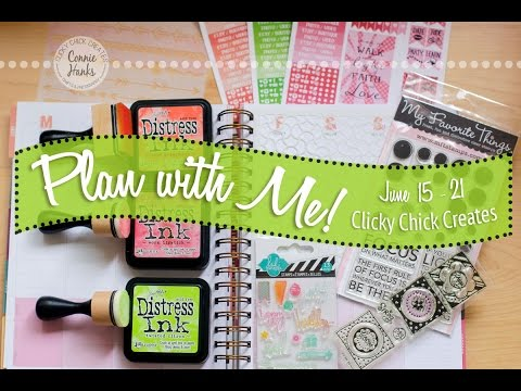 Plan with Me! Inkwell Press Planner  - June 15-21