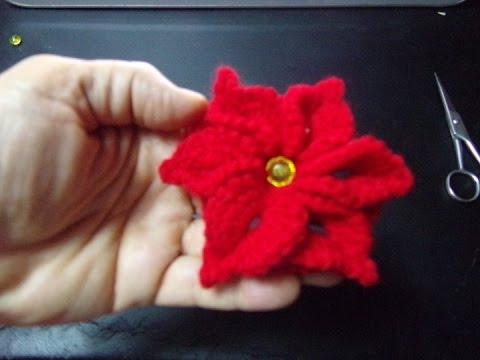 Floare Crosetata Cu 6 Petale Youtube