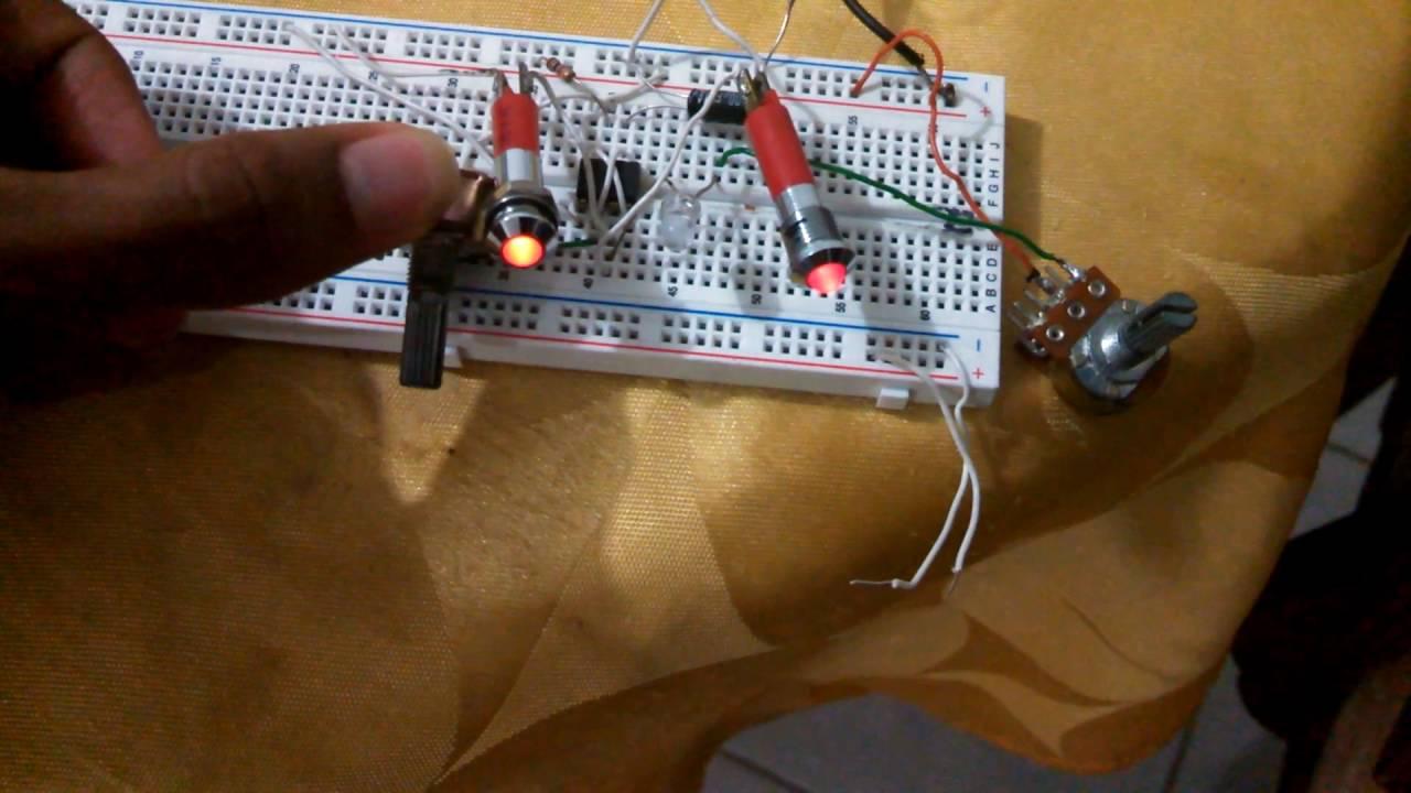 Circuito Oscilador 555 : Como queda circuito oscilador con led youtube