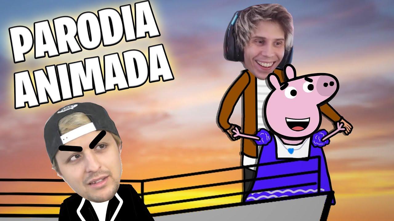 PEPA LA CERDA, RUBIUS Y DALAS EN EL TITANIC (Parodia animada)