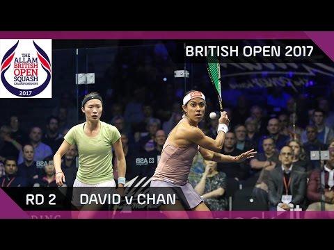 Squash: David v Chan - British Open 2017 Rd 2 Highlights