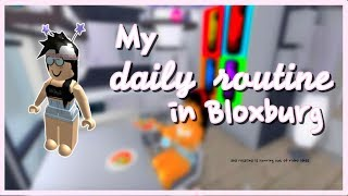 My Daily Routine in Bloxburg || ROBLOX Animation Skit
