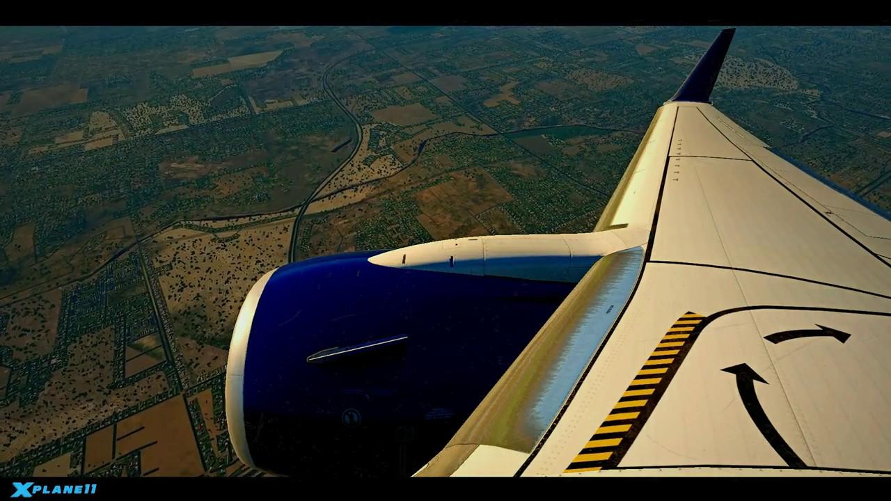 X-Plane 11 w/ReShade-Vivid 737 pattern at Salt Lake City
