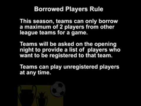 Armagh Soccer League New Winter rules 2009