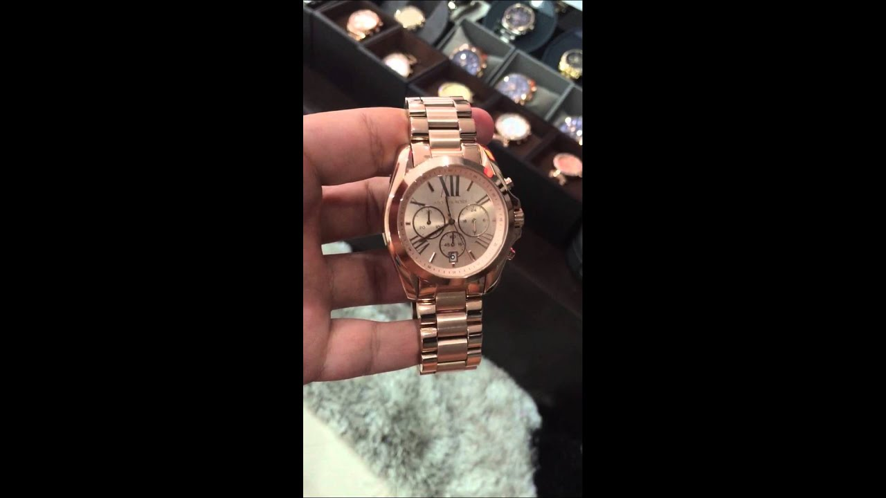 MICHAEL KORS Bradshaw Chronograph Rose Gold-tone Watch