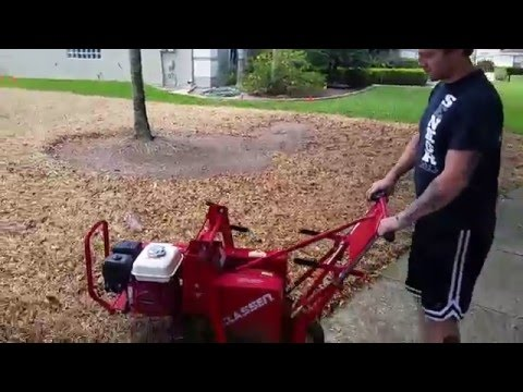 Sod removal process. Grass removal witha sod cutter