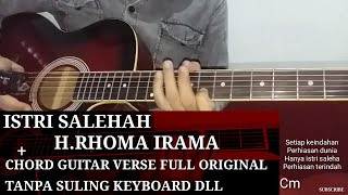 Chord melody lagu dangdut istri salehah rhom irama cover gitar