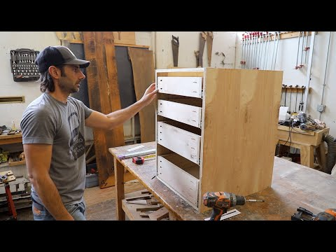 """Building Simple Frameless Kitchen Cabinets with Pocket Screws -  """"Euro Style"""""""