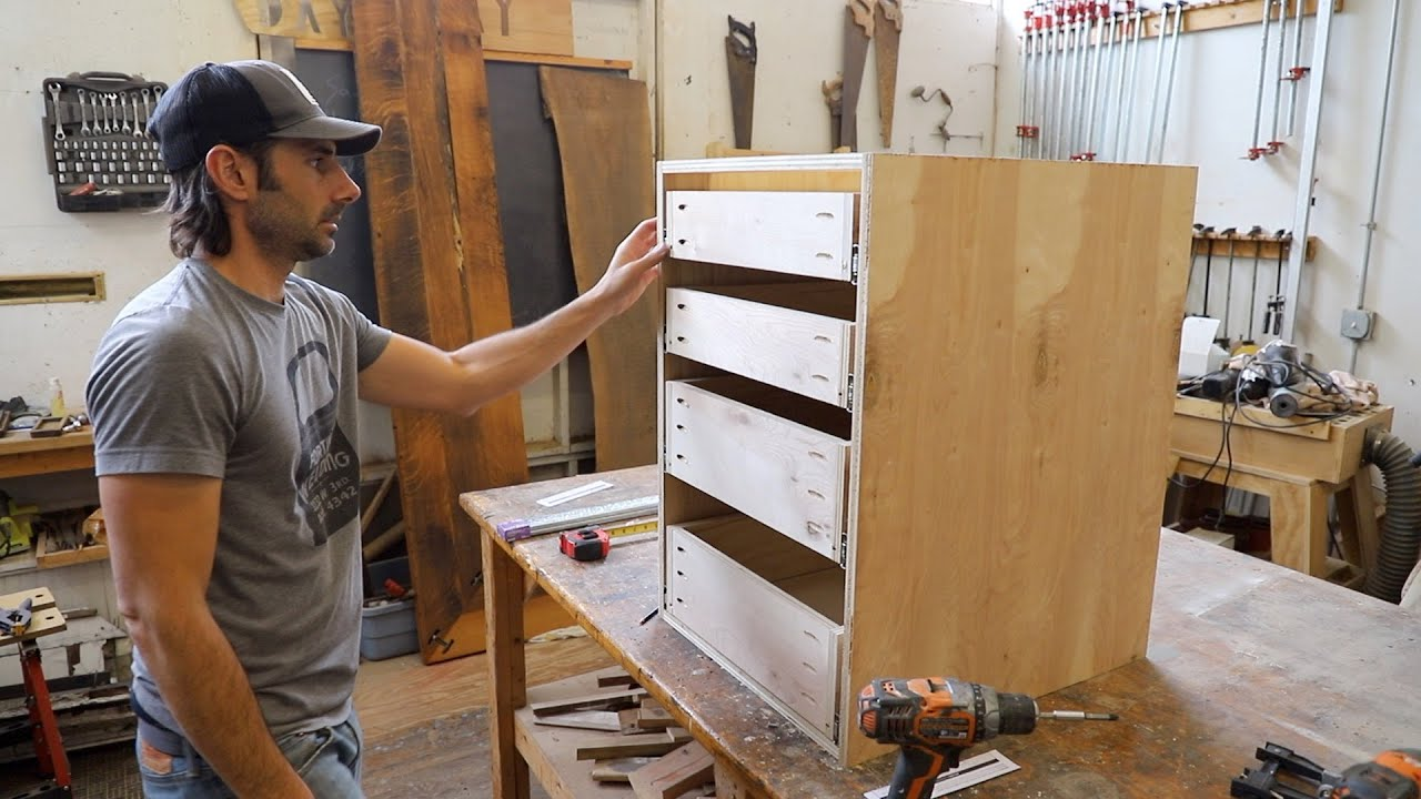 Building Simple Frameless Kitchen Cabinets with Pocket ...