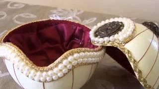 Handmade Ostrich Eggshell Jewelry Boxes