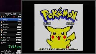 Pokemon Yellow - Any% Glitchless Speedrun in 1:57:05