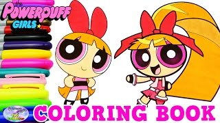 Powerpuff Girls Z Coloring Book Blossom Momoko Akatsutsumi Surprise Egg and Toy Collector SETC