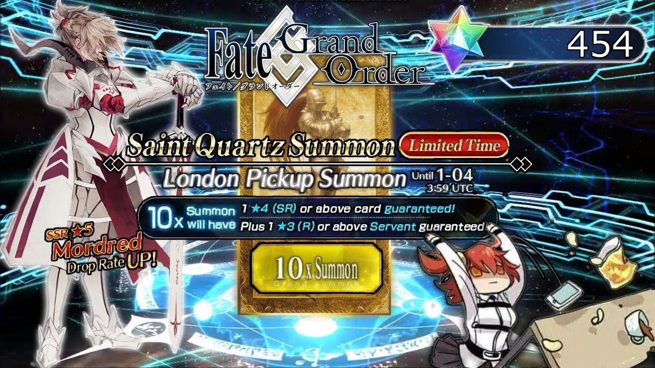 [FGO NA] Give Me Daddy Issues - 450+ Saint Quartz on Mordred Banner