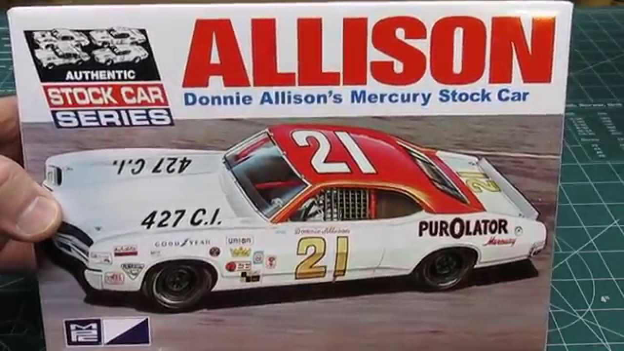 Mpc 1 25 1971 Mercury Cyclone Stock Car Donnie Allison Model Kit