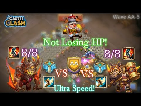 Ghoulem, Rockno And Nick Vs HBM AA Crazy Heroes NOT LOSING HP! Castle Clash