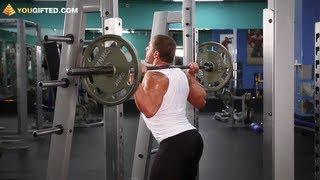 Упражнения для ног. Приседания со штангой.(Подпишись на канал: http://goo.gl/5CGoM и мы расскажем как сделать тело твоей мечты. Вконтакте: http://vk.com/yougifted Facebook:..., 2011-08-30T08:57:28.000Z)