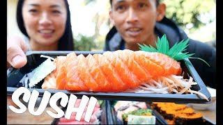 SUSHI Mukbang *Lets Eat (กินซูชิกันค่ะ...พูดไทย) *English SUB | SAS-ASMR