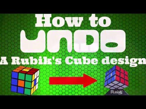 How To Undo A Rubik's Cube Design | ANY CUBE | Tetris Example