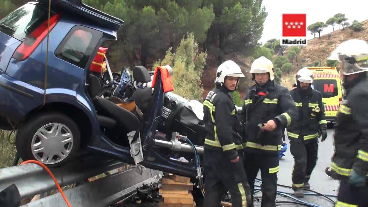 Accidente trafico navas del rey m 501 youtube - Pavimarsa navas del rey ...