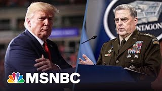 New Book Reports Gen. Milley Worried Trump Might Start A War With China