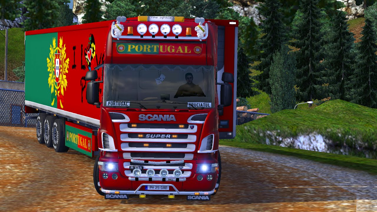 Euro Truck Simulator Scania R K Portugal Metallic Paint - Portugal map euro truck simulator 2