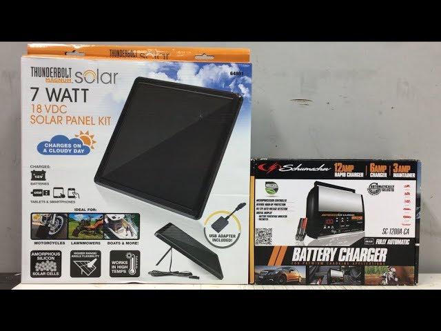 Harbor Freight 7 Watt Solar Kit Vs Schumacher Battery Charger Maintainer Youtube