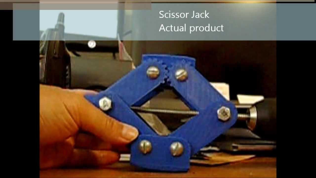 3d Printed Scissor Jack Youtube