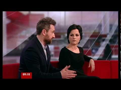Dolores O'Riordan and Noel Hogan on BBC Breakfast 23.01.12.