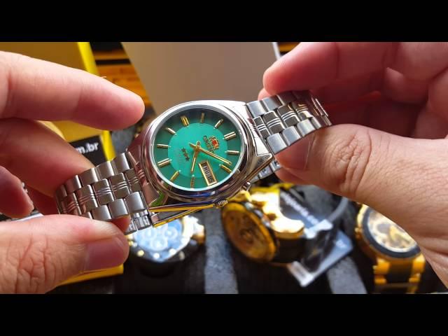 9b6956676b8 Relógio orient 3 estrelas automático calendário Aço Inox Original  Altarelojoaria - YouTube