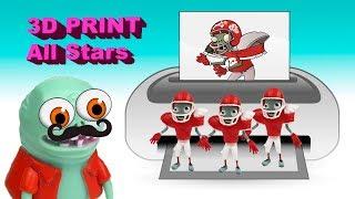 3D print All Stars toys Plants vs Zombies Garden Warfare 2 fun PlayClayTV