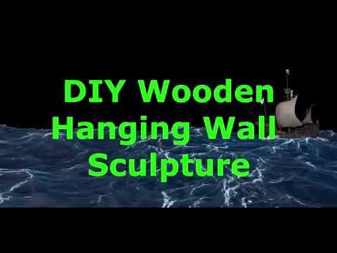 DIY Wooden Hanging Wall Sculpture