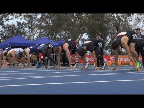 Men's 100m At Canberra Track Classic 2020