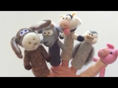 animaux de la ferme marionnettes a doigts finger wool puppets farm animals youtube. Black Bedroom Furniture Sets. Home Design Ideas
