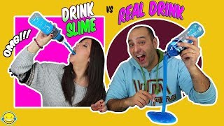 DrINk SLiMe vs ReAl DrInK!! BeBiDa ReAl vs BeBiDa dE SLiMe!! MoMenToS DiVeRtIdOs