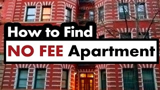 How To Find a NO FEE Apartment in NYC