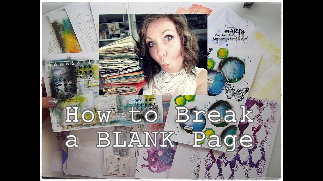 How to Break A Blank Page? Mixed Media Art Journaling for Beginners part 2 ♡ Maremi's Small Art ♡