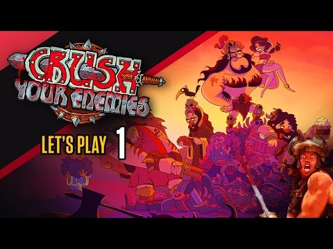 Let's Play Crush Your Enemies [Part 1] - Barbarians (Crush Your Enemies Gameplay) |