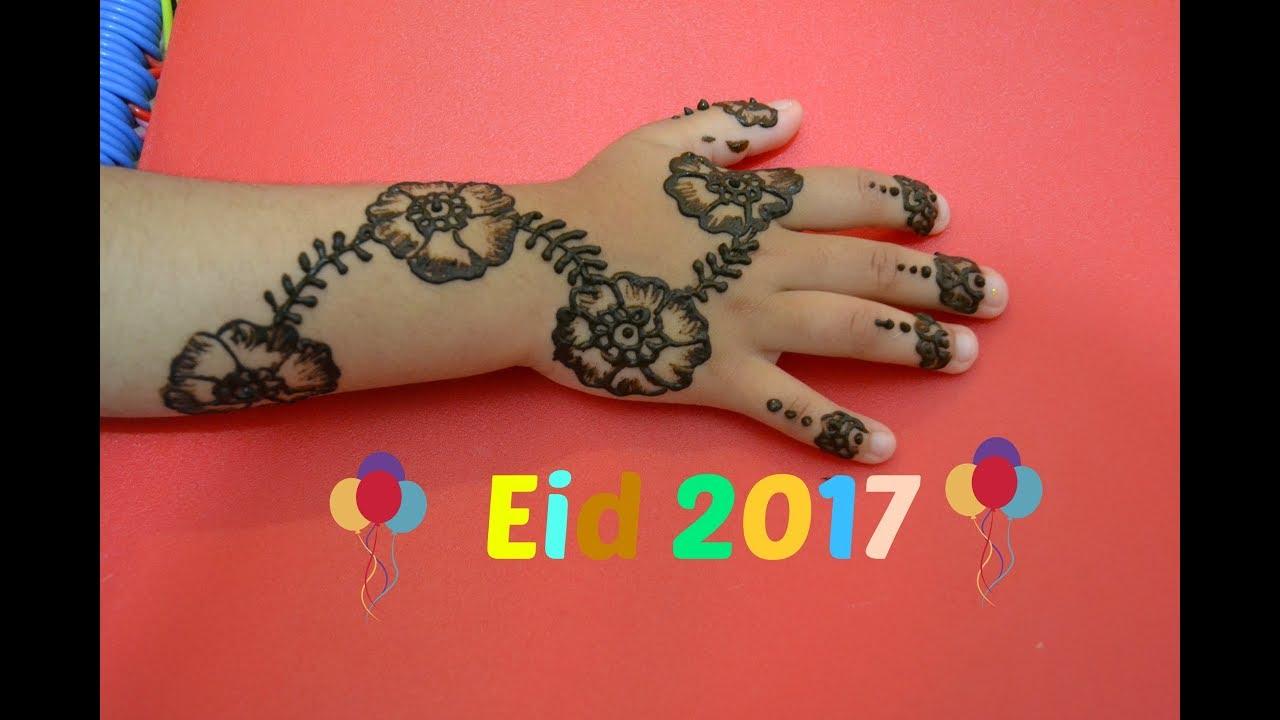Henna Tattoo For Kids Beautiful Mehindi Design On Eid Youtube