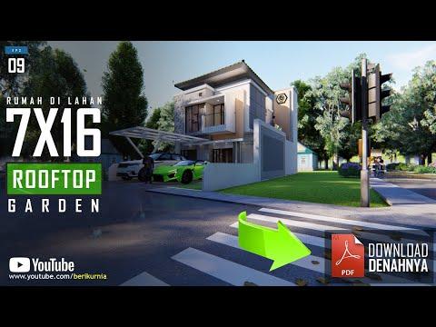 Rumah 7X16 Dengan 4 Kamar Tidur Dan Rooftop Garden