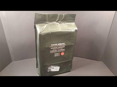 2014 Italian Combat Food Ration 24 Hr MRE Review Module B Top Military Meal Tasting Test
