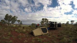 Time Lapse video of setting up camp in the Outback