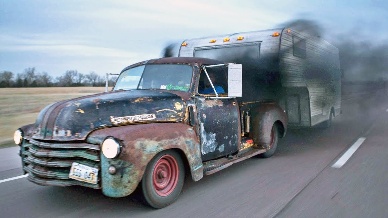 Badass Diesel Turbo Rat Rod Pickup Youtube 1950 To 1960 Chevy Trucks