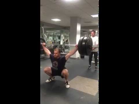 Frank Murray perfecting the snatch