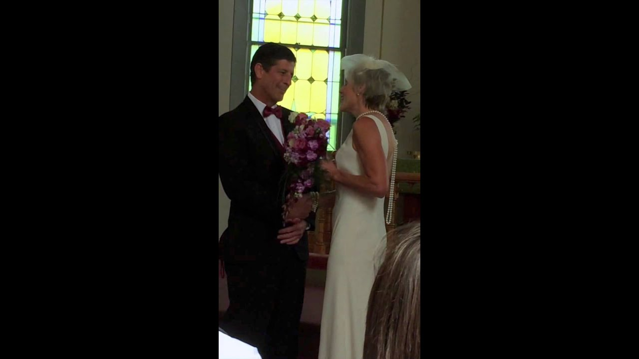 Bride Song To Groom: Bride Sings A Tender Song To Her Groom At The Alter During