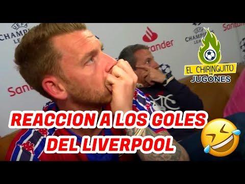 REACCIÓN DE LOS CULÉS DEL CHIRINGUITO A LOS GOLES DEL LIVERPOOL Vs FC BARCELONA