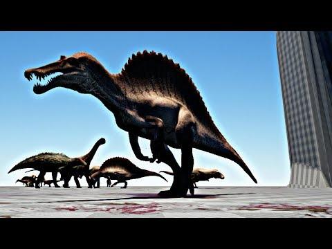 The Isle Brasil #63 - 30 Dinossauros, Grande Batalha - Tiranossauros, Spinos, Trikes [DeathMatch]